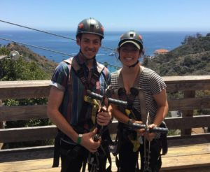 Ziplining Descanso Canyon